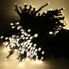 100 Warm White LED Battery Powered Multi Function String Lights
