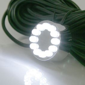 12 LED White Underwater Pond Light