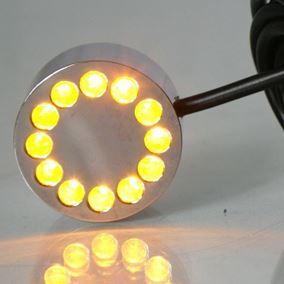 12 LED Amber Underwater Pond Light