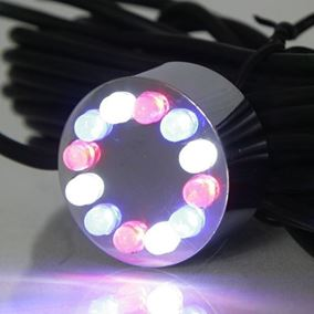 12 LED Underwater Pond Light (Red/Blue/White)