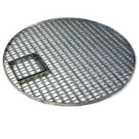 Large Round Galvanised Steel Water Feature Grid 114cm