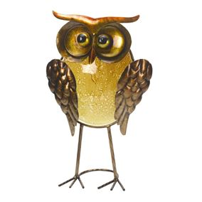 Orla Owl Glass Decor Garden Ornament