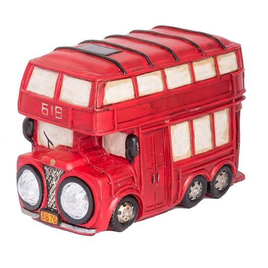 red bus solar light. Black Bedroom Furniture Sets. Home Design Ideas