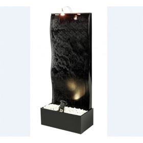 Large Black Ripple Acrylic Cascade Water Feature