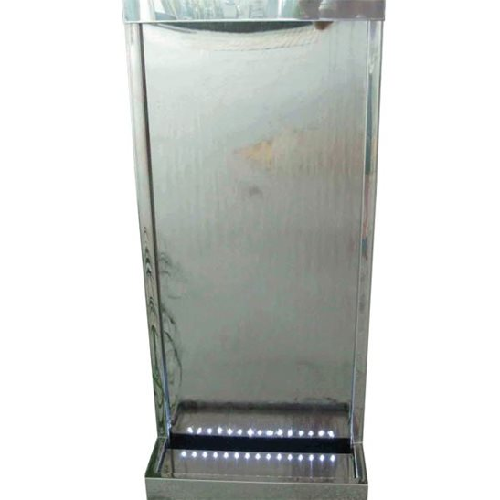 additional image for Doha Stainless Steel Wall Cascade Water Feature with LED Lights