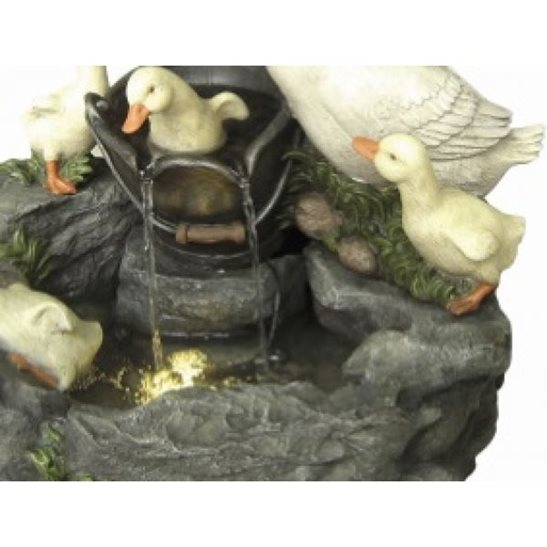 additional image for Duck Family at Tap Water Feature with Lights