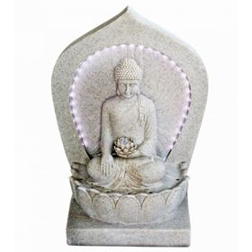 Buddha with LED Surround Water Feature