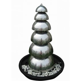 Bologna Stainless Steel Garden Water Feature