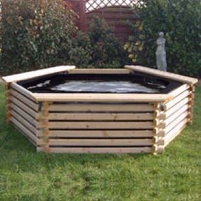 300 Gallon Wooden Deck Pond