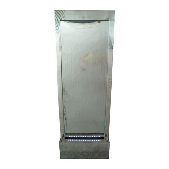 Doha Stainless Steel Wall Cascade Water Feature with LED Lights