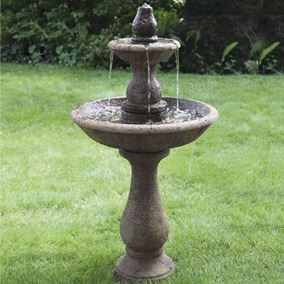 Two Tier Boca Round Fountain Water Feature