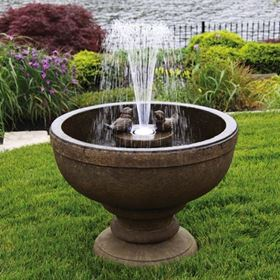 Fleur De Lis Bird Fountain Water Feature