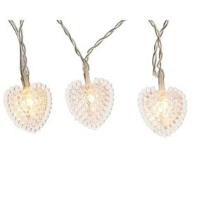 40 LED Transparent Heart Lights (Warm White)