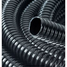 2 Inch/50mm Ribbed Black Water Feature Hose (1 Metre)