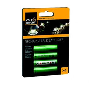 AAA Ni-Mh Rechargeable Batteries for Solar Lights (4 Pack)
