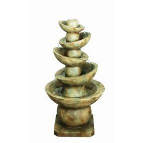 Offset Balance Bowls Lit Water Feature