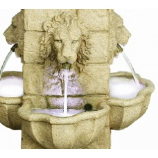 additional image for Four Face Lion Lit Water Feature