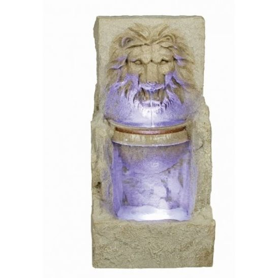 Large Lion Head With Bowl Water Feature with LED Lights