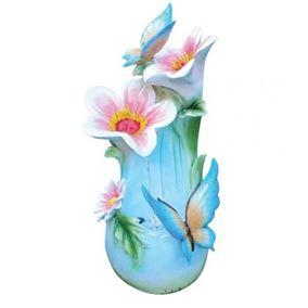 Butterflies On Flowers Lit Water Feature