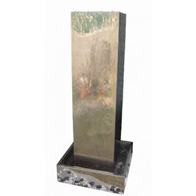 Warsaw Stainless Steel Garden Water Feature with LED Lights