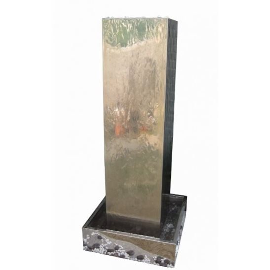 Kingston Stainless Steel Water Feature with LED Lights