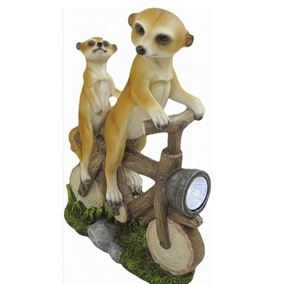 Meerkats on Bike with Solar Light