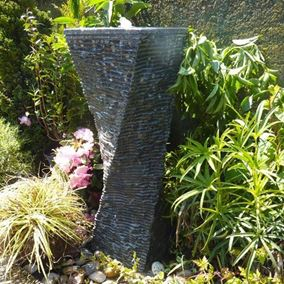 Twisted Granite Column Water Feature Kit