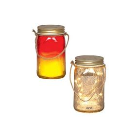 LED Lit Glass Jar (Battery Powered)