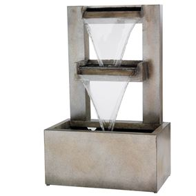 Zinc Wall Two Tier Water Blade Fountain
