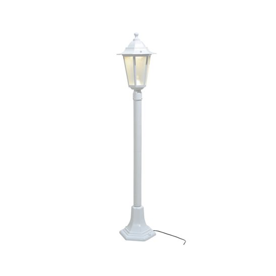 Low Voltage Indoor Lighting Systems: 12V LED 98cm White Garden Lampost (Low Voltage Lighting