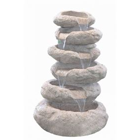 6 Tier Sandstone Boulder Water Feature