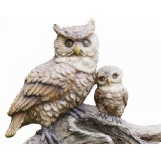 additional image for 2 Owls on Branch Garden Water Feature