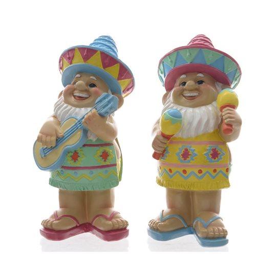 Gnome In Garden: Large Mexican Themed Garden Gnome