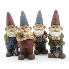 Working Garden Gnomes (Set of 4)