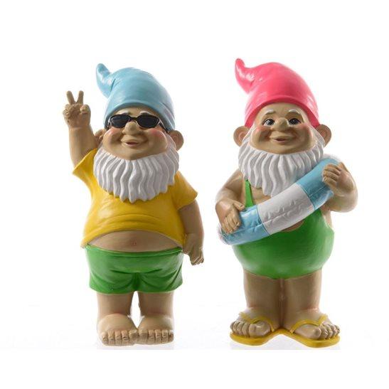 Gnome In Garden: Large Beach Surfer Garden Gnome