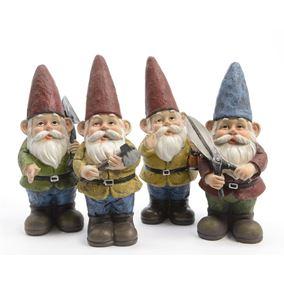 Gardening Worker Novelty Gnomes (Set of 4)