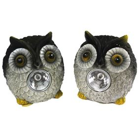 Long Eared Solar Owl Garden Spotlights (Twin Pack)
