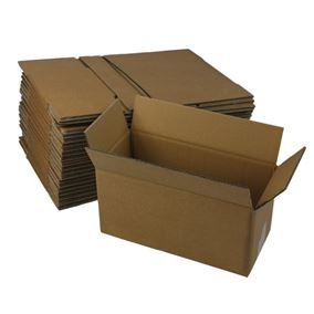 20 Small Strong Cardboard Boxes Ideal for Storage and House Moving (Double Walled)