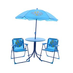Children's Table and Chair Set (Blue Fish Design)