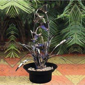 Verona Zinc Metal Water Feature with LED's