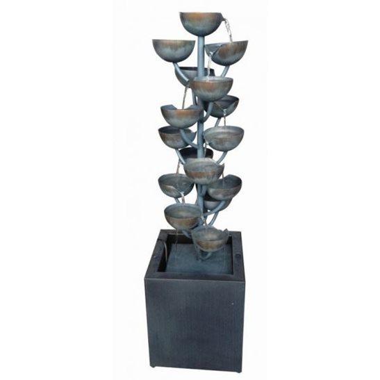 Modena Zinc Metal Cascading Cups Water Feature