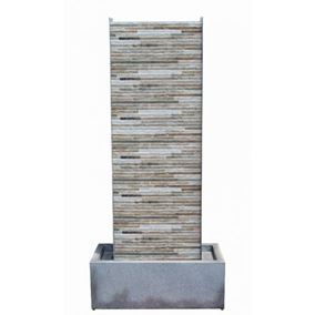 Genoa Cascade Zinc Metal & Ceramic Water Feature