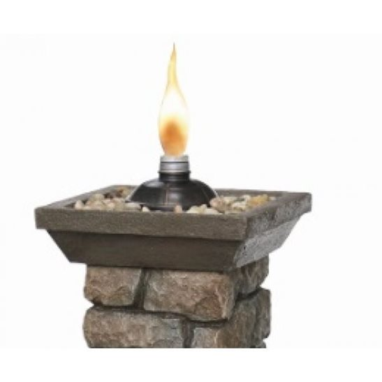 additional image for Brick Effect Column with Real Flame Water Feature