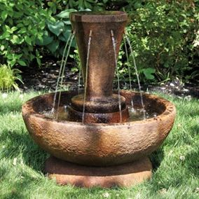 27'' Falling Waters Fountain Cast Stone Water Feature