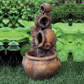 Spilling Urn Fountain Cast Stone Water Feature