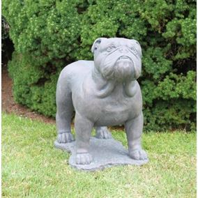 English Bulldog Cast Stone Garden Ornament