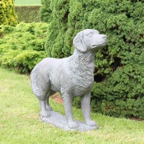 Golden Retriever Cast Stone Garden Ornament