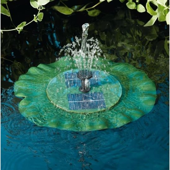 additional image for Starter Garden Pond Kit with Solar Floating Lily Fountain