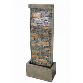 Brick Effect Curved Sheet Water Feature with LEDs