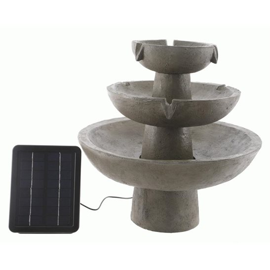 additional image for Solar Powered 3 Tier Fountain
